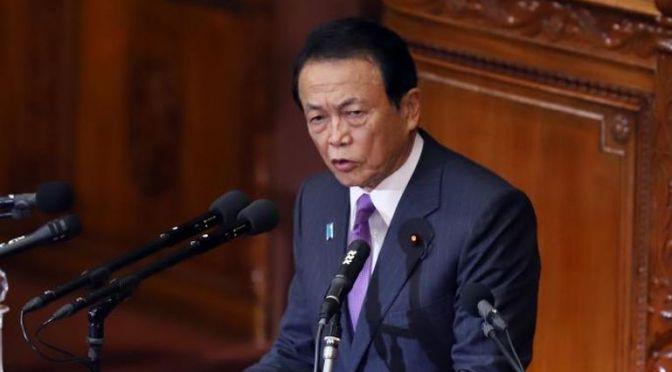 Méltatta az országa anyanyelvi és etnikai homogenitását, meghurcolták a japán miniszterelnök-helyettest