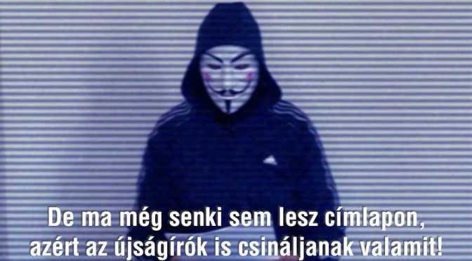 Megérkezett a beígért videó az álarcos Anonymous-tól